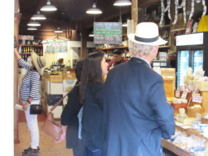 Carmel Cheese shop Buying Cheese for our Tastings