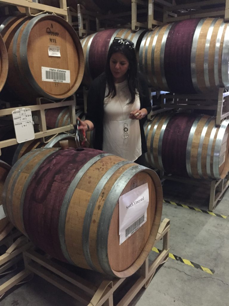 First barrel tasting with a wine thief. #wine tasting #life is good