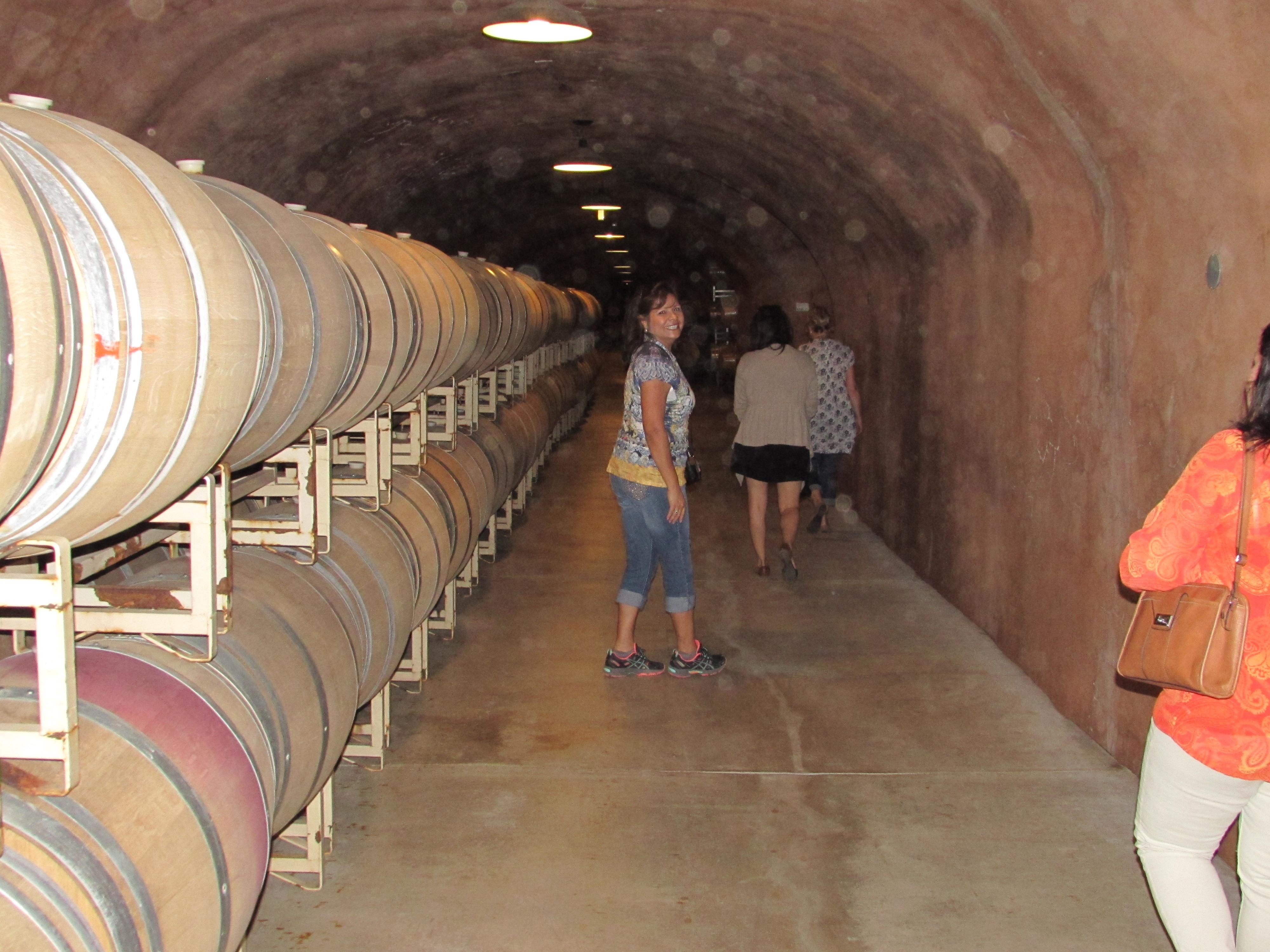 Napa Barrel room