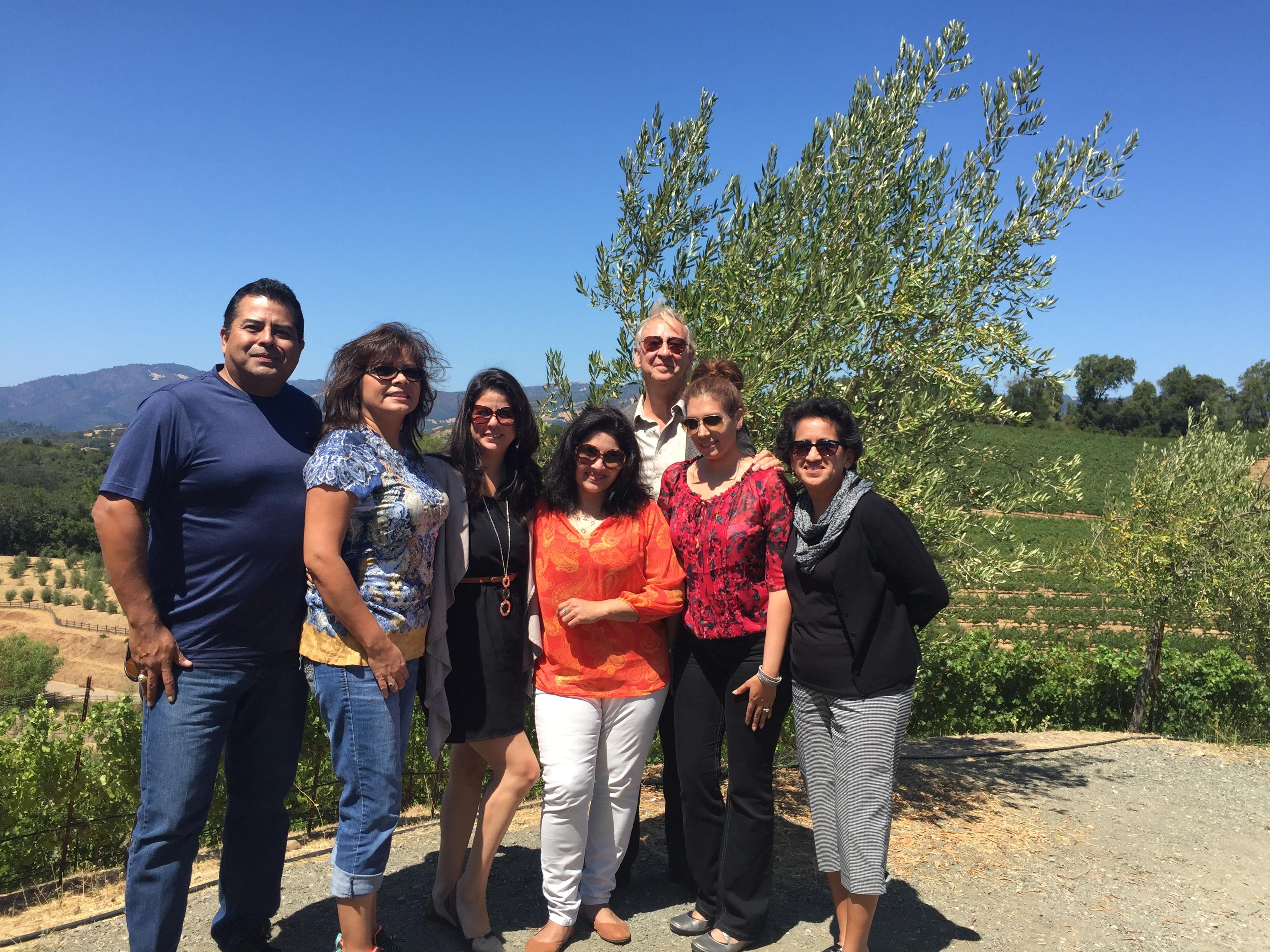 Deco Winos in Napa California Wine Tour Benziger Winery