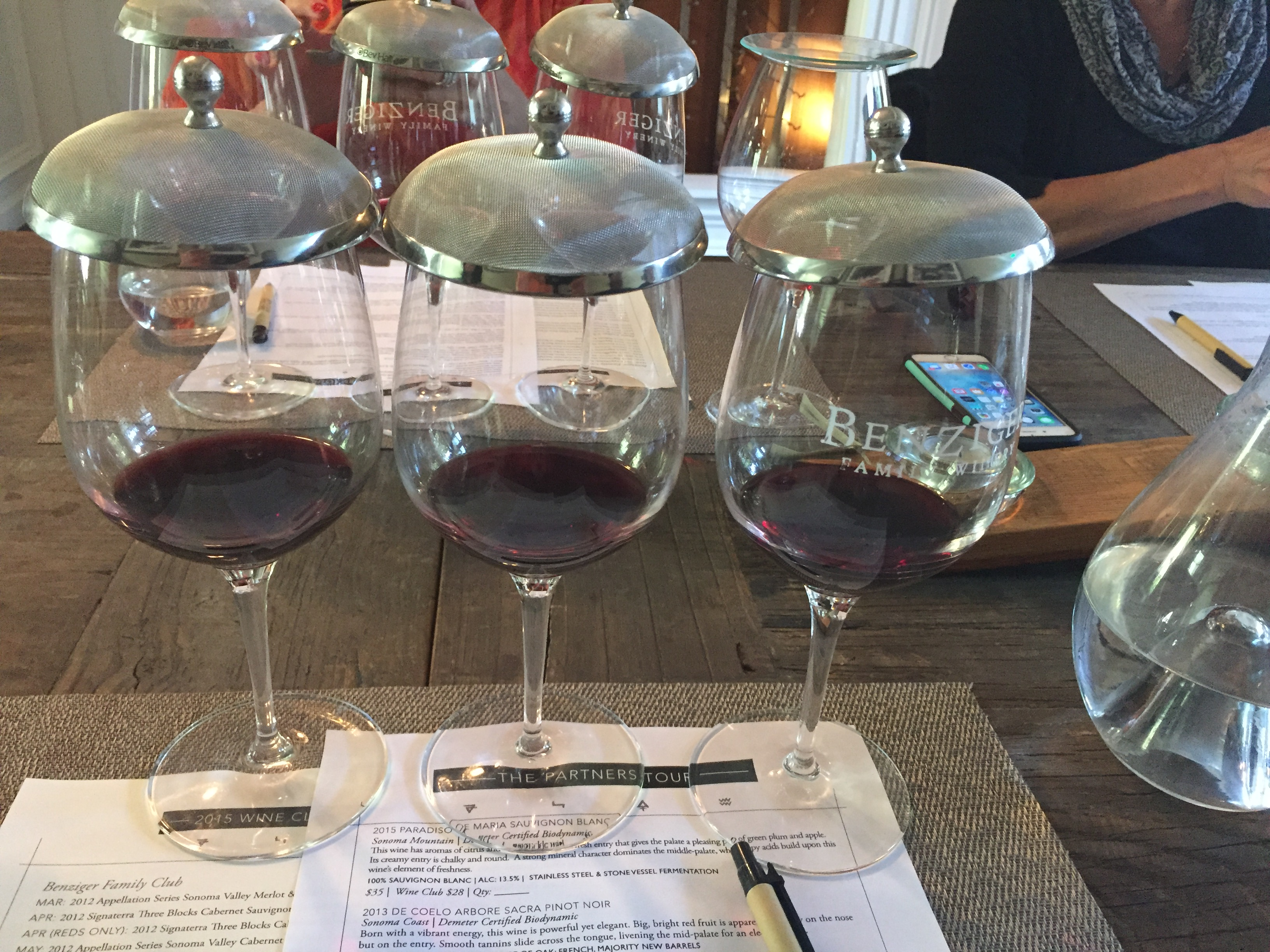 Benziger Winery Tasting #crazywineladies