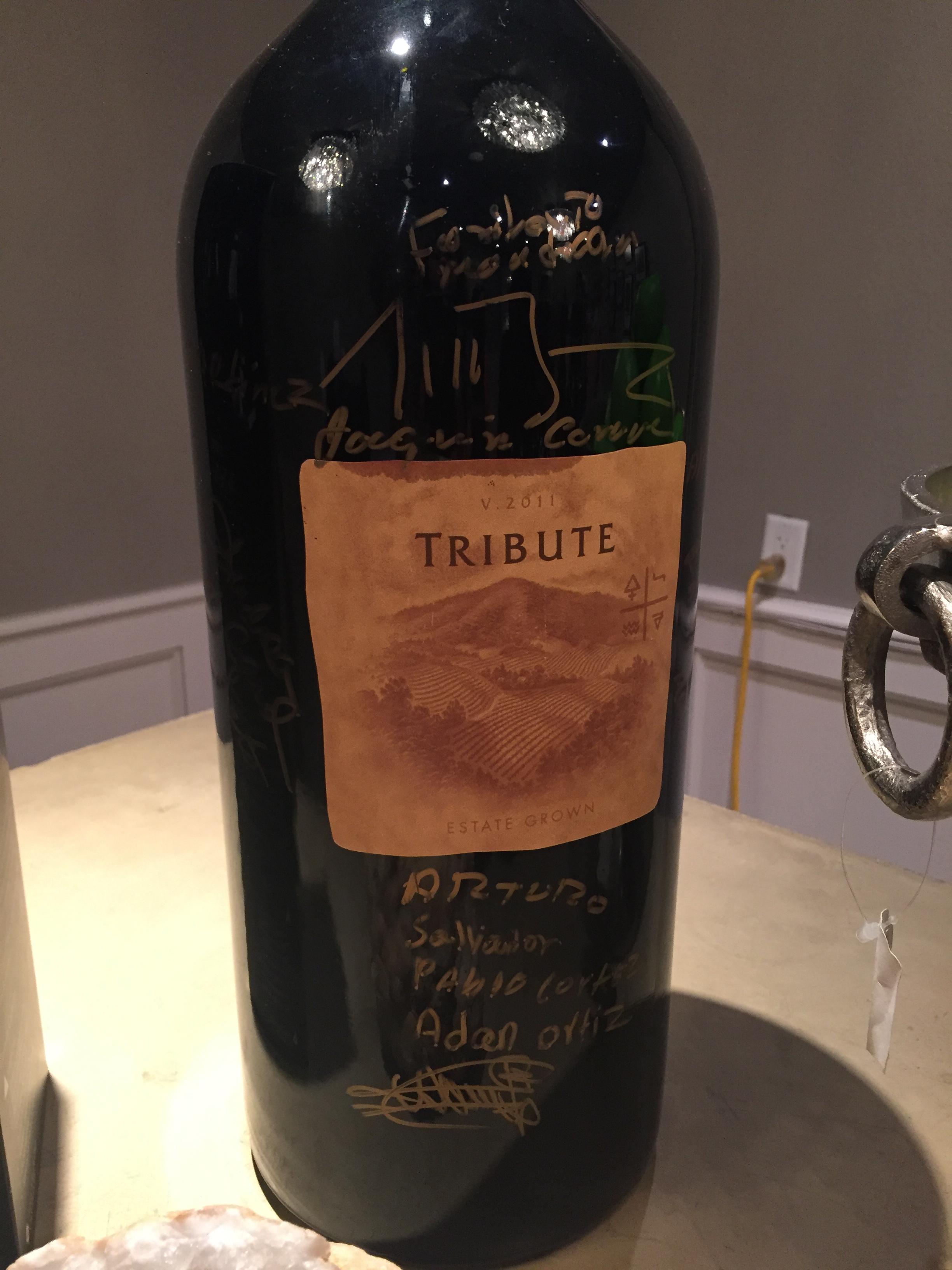 Tribute Wine Napa California Wines